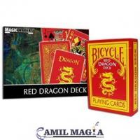 Baraja Dragón Rojo (Bicycle) por Magic Makers
