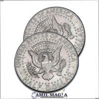 Cascarilla Expandida Medio Dolar (Lado Águila) por Camil Magia