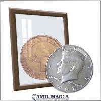 Plata y cobre Medio Dolar y Penique por Camil Magia