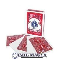 Baraja Cara Blanca Dorso Rojo Bicycle